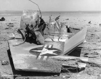 56-742 GE F-104A after its crash onto the lakebed 23Jun1959