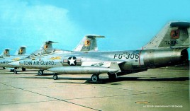 57-1306 F-104B & F-104A 151 FIS Tennessee ANG